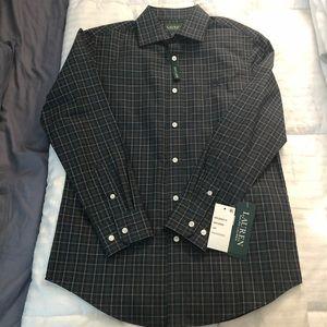 Boys Ralph Lauren Green Plaid Shirt sz 14R